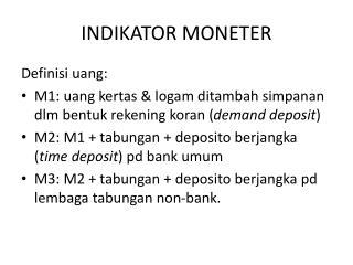 INDIKATOR MONETER