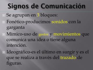 Signos  de  Comunicación