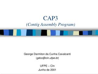 CAP3 (Contig Assembly Program)