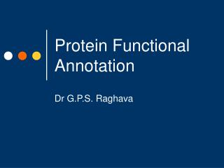 Protein Functional Annotation