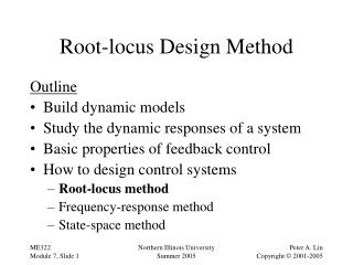 Root-locus Design Method