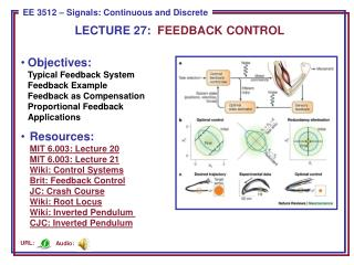 LECTURE 27:   FEEDBACK CONTROL