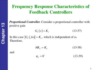 Frequency Response Characteristics of Feedback Controllers