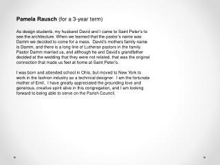 Pamela Rausch  (for a 3-year term)