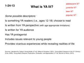 What is YA lit?