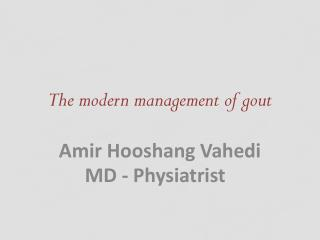 The modern management of gout