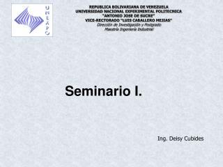 Seminario I. .