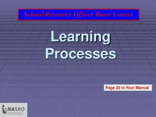 Learning Processes