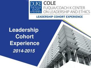 Leadership Cohort Experience 2014-2015
