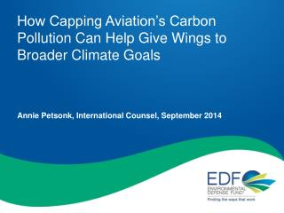 How Capping Aviation's Carbon Pollution Can Help Give Wings to Broader Climate Goals