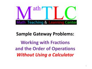 Sample Problem #1:  Adding fractions