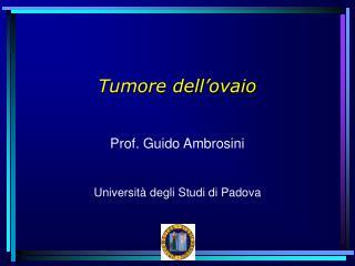 Tumore dell'ovaio