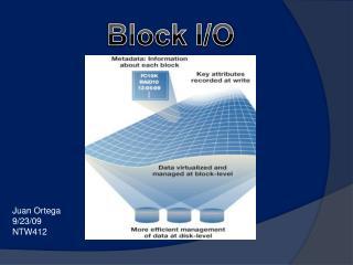 Block I/O