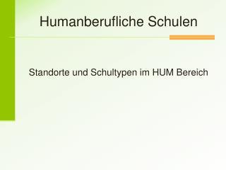 Humanberufliche Schulen