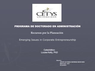 PROGRAMA DE DOCTORADO EN ADMINISTRACIÓN
