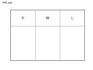 KWL grid