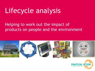 Lifecycle analysis