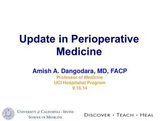 Update in Perioperative Medicine