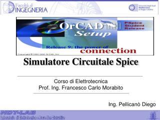 Corso di Elettrotecnica Prof. Ing. Francesco Carlo Morabito