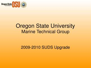 Oregon State University Marine Technical Group