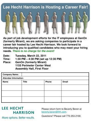 Lee Hecht Harrison is Hosting a Career Fair!