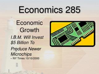 Economics 285