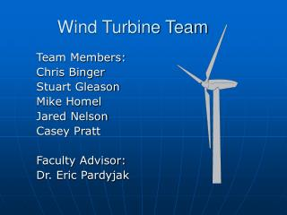 Wind Turbine Team