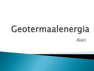 Geotermaalenergia