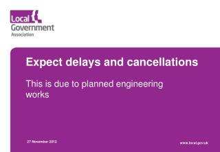 Expect delays and cancellations