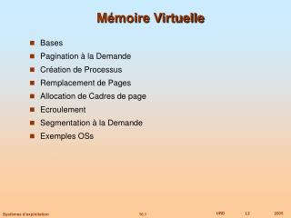 M�moire Virtuelle
