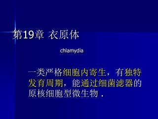 第19章 衣原体 chlamydia