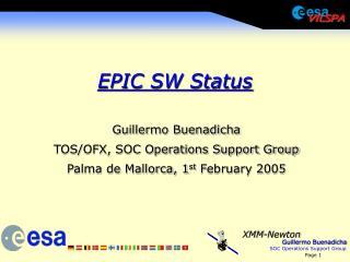 EPIC SW Status