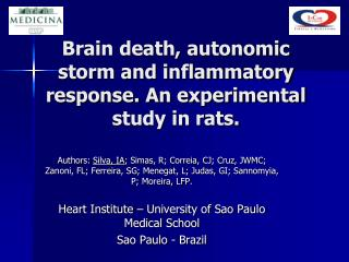 Brain death, autonomic storm and inflammatory response. An experimental study in rats.