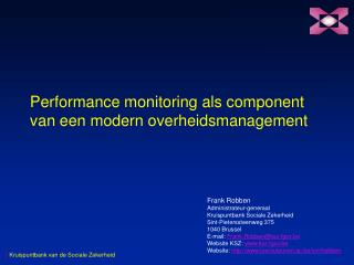 Performance monitoring als component van een modern overheidsmanagement