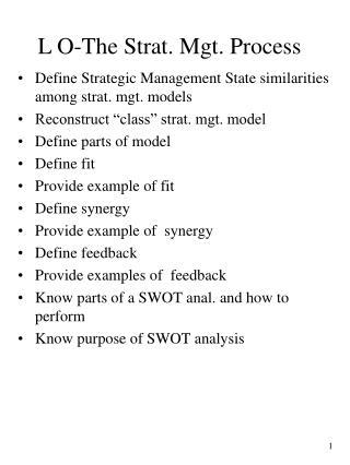 L O-The Strat. Mgt. Process