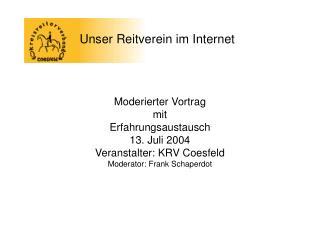 Unser Reitverein im Internet