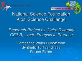 Comparing Water Runoff from Synthetic Turf vs. Grass Soccer Fields