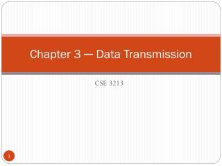Chapter 3  ─  Data Transmission