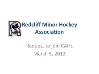 Redcliff Minor Hockey Association