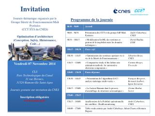 Vendredi 07 Novembre 2014  CLS  Parc Technologique du Canal 11 rue  Hermes ,