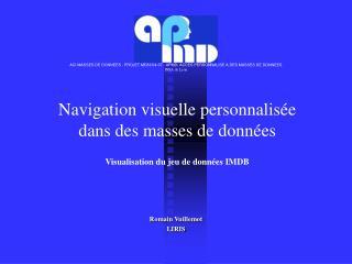 Navigation visuelle personnalisée  dans des masses de données Visualisation du jeu de données IMDB