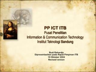 PP ICT ITB Pusat Penelitian Information & Communication Technology Institut Teknologi Bandung