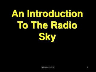 An Introduction To The Radio Sky