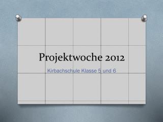 Projektwoche 2012