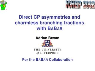 Direct CP asymmetries and charmless branching fractions with B A B AR
