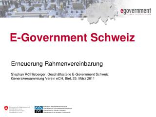E-Government Schweiz