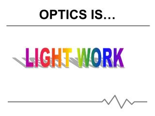 OPTICS IS…