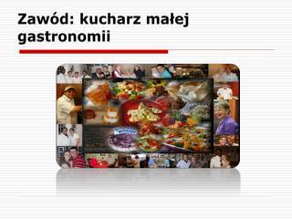 Zawód: kucharz małej gastronomii