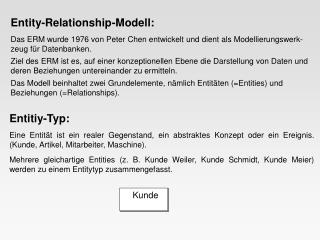 Entity-Relationship-Modell: