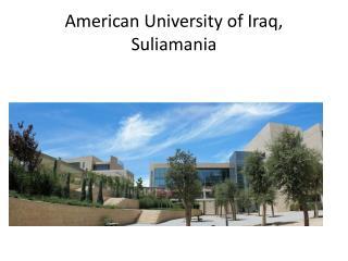 American University of Iraq,   Suliamania